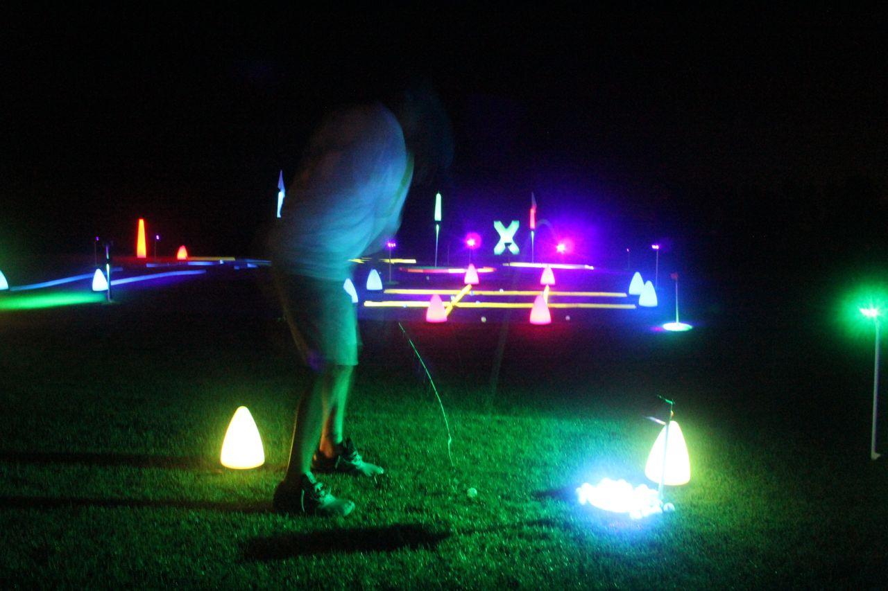 Night Golf Highlights From Wahkonsa Country Club Iowa