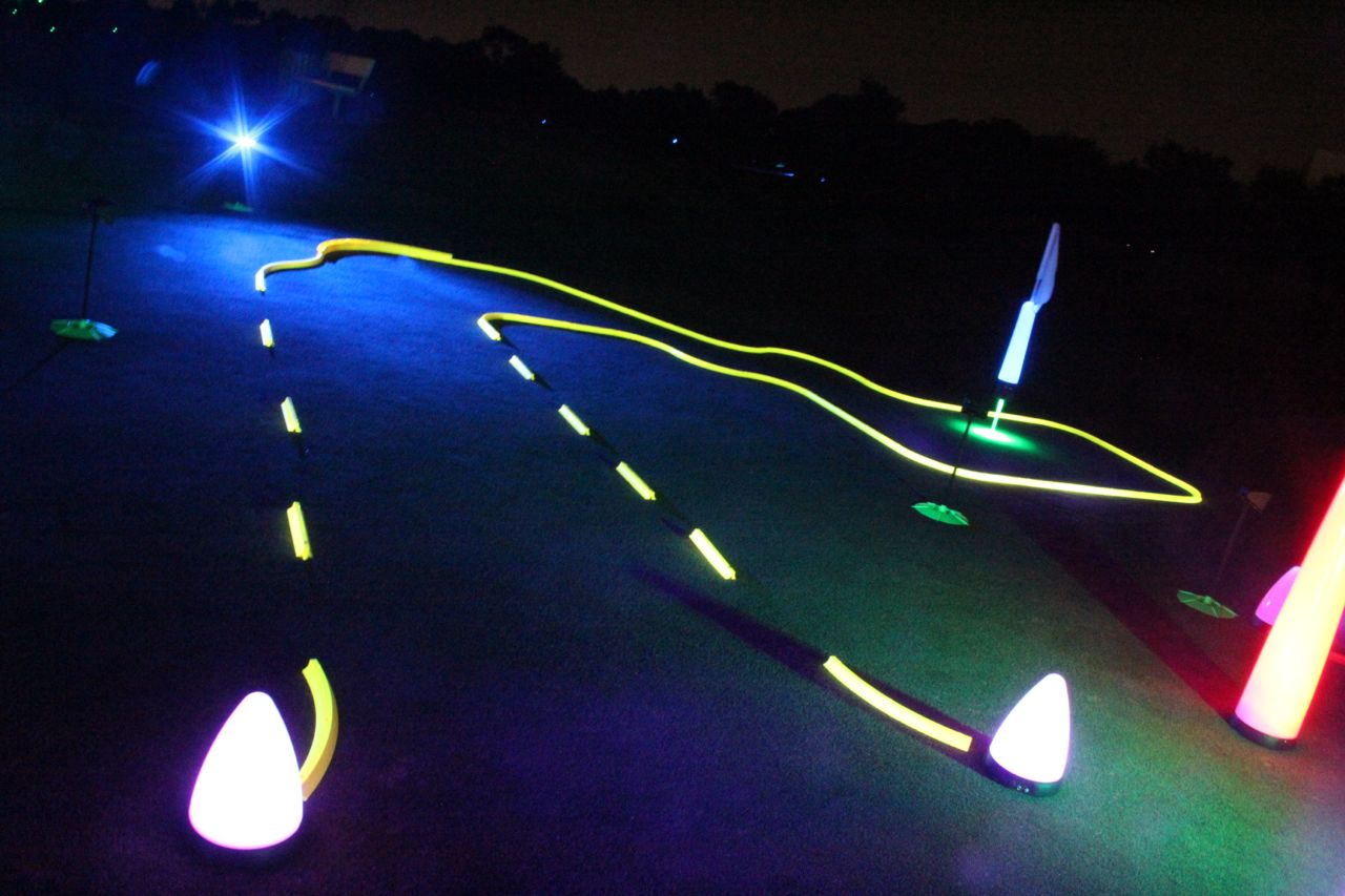 glow golf hole