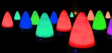 night golf course marker lights