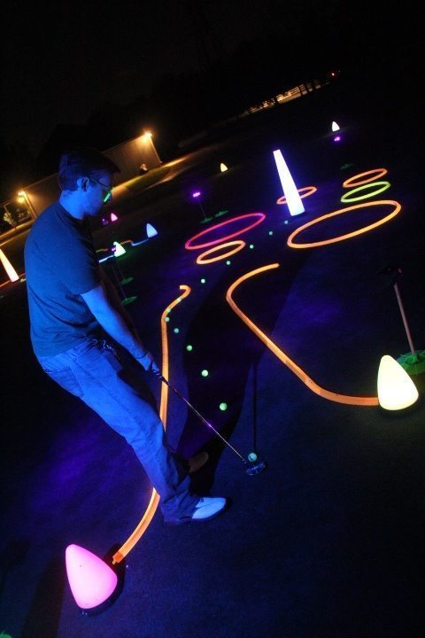 Night golf event ideas
