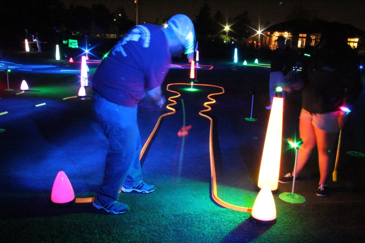 glow putting fundraiser