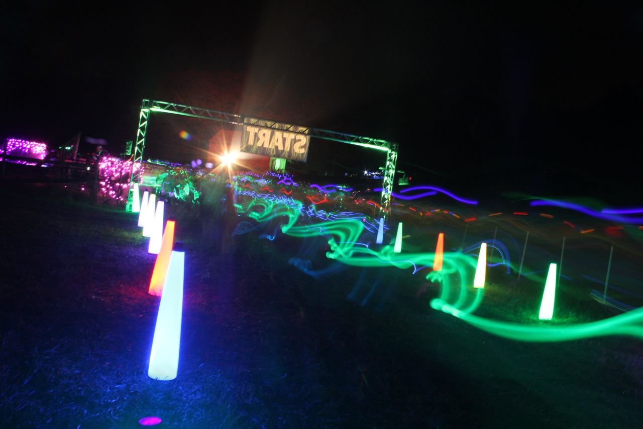 photos from a cosmic neon night run