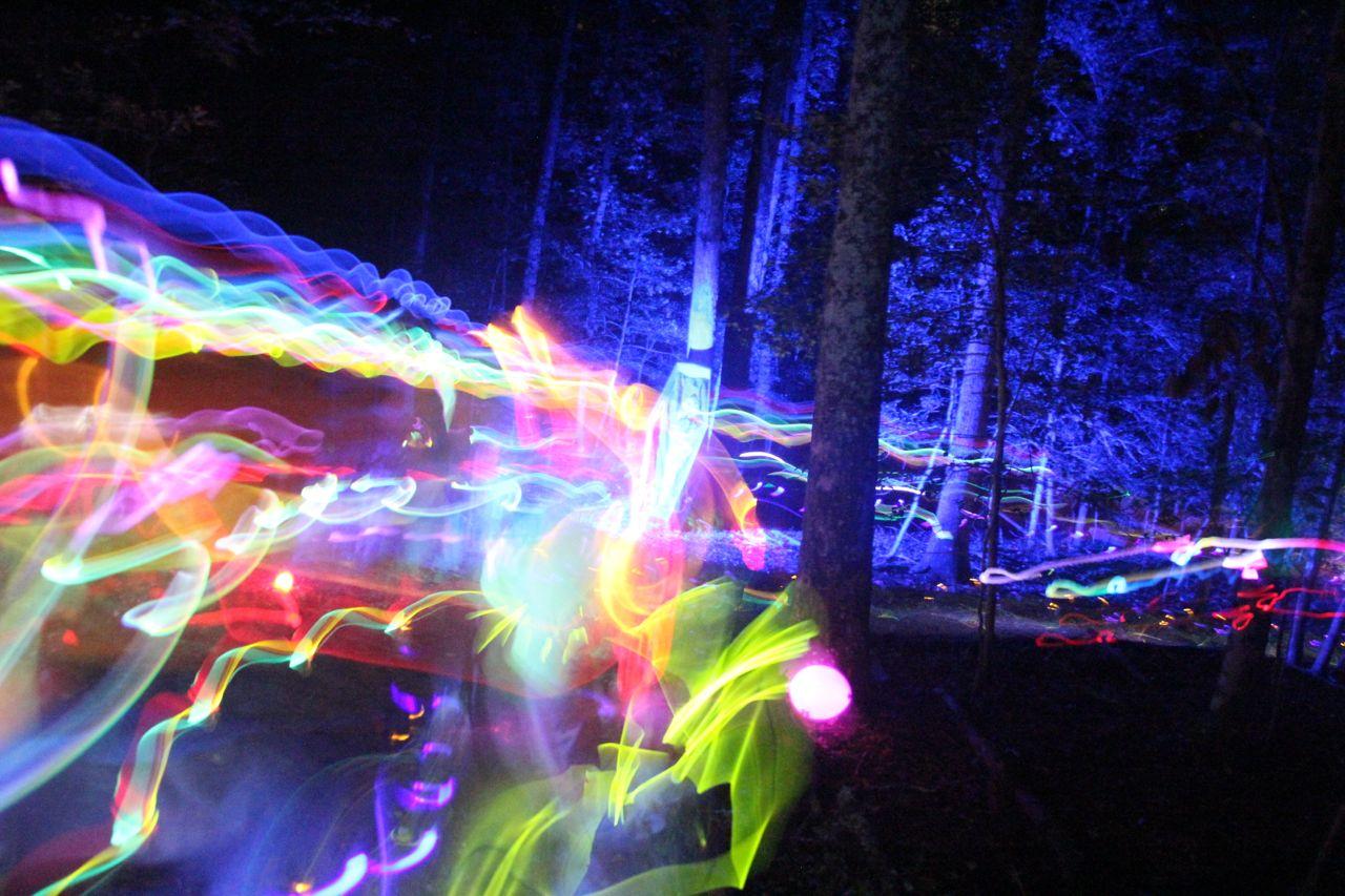 photos of our fun run lighting