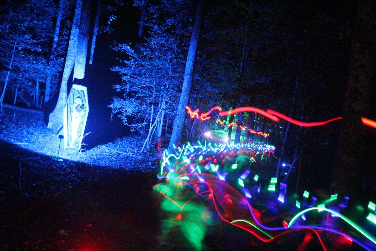 neon night run photos we took