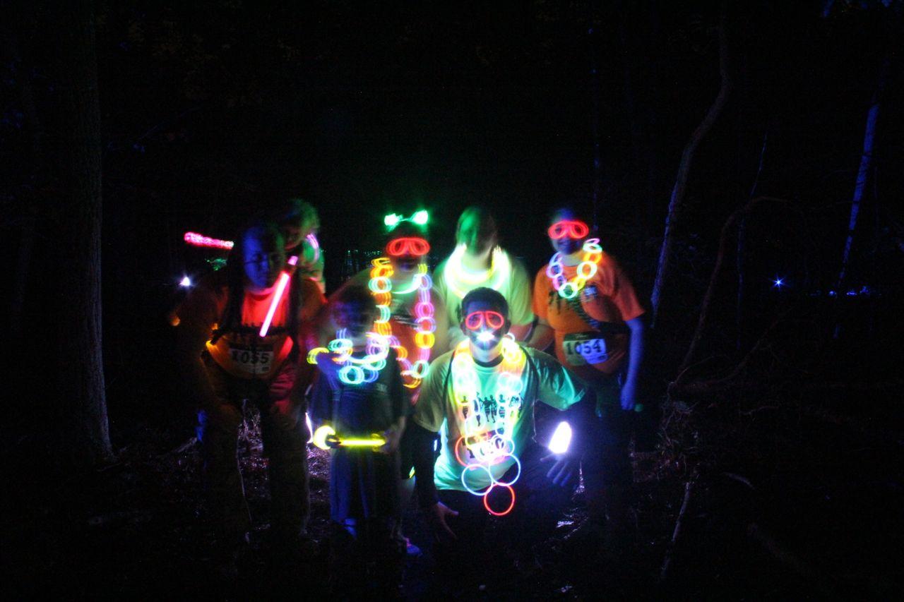 photo of glow runners