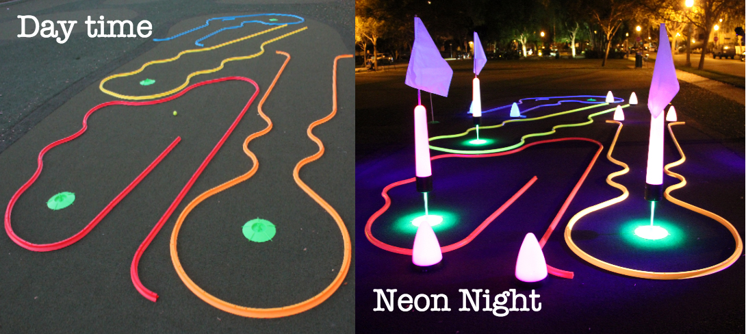 night golf putting front page image