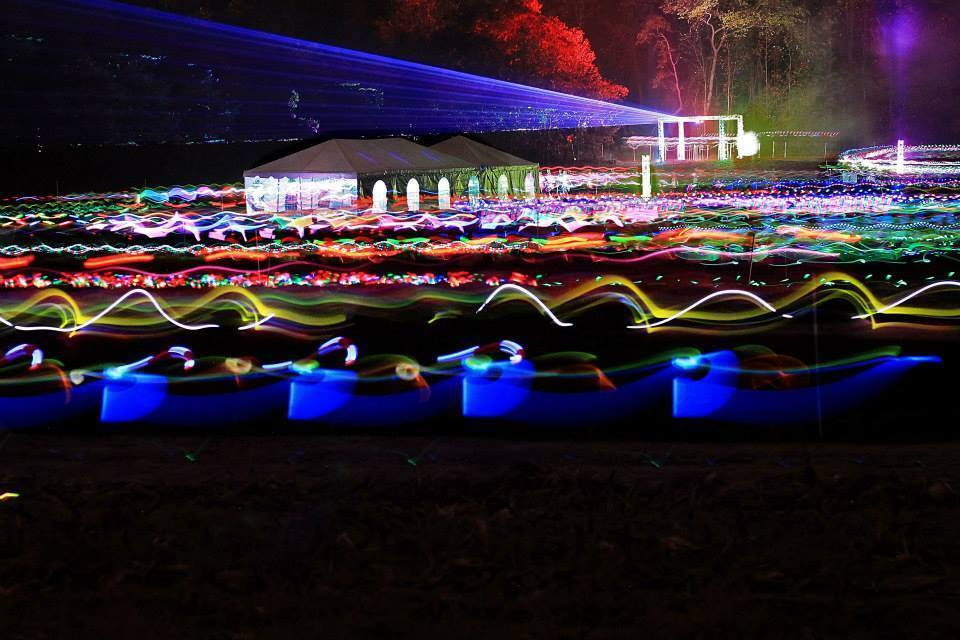 the beauty of our glow run lighting system