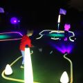 Glow golf putting for kids
