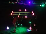 Glow golf games tic tac toe