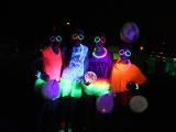 glow in the dark glamour at neon run