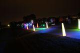 runners at neon run