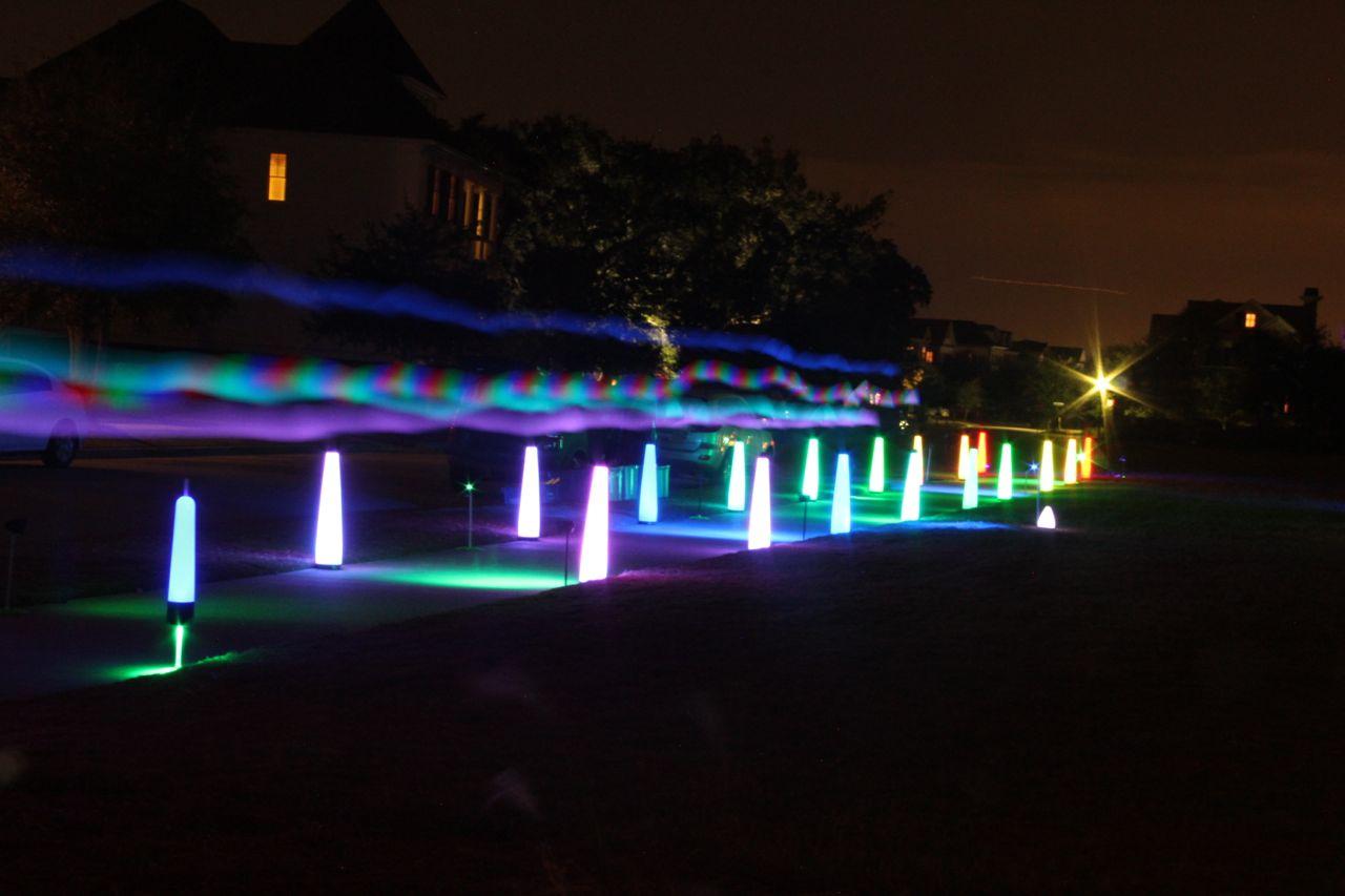glow run lighting at night