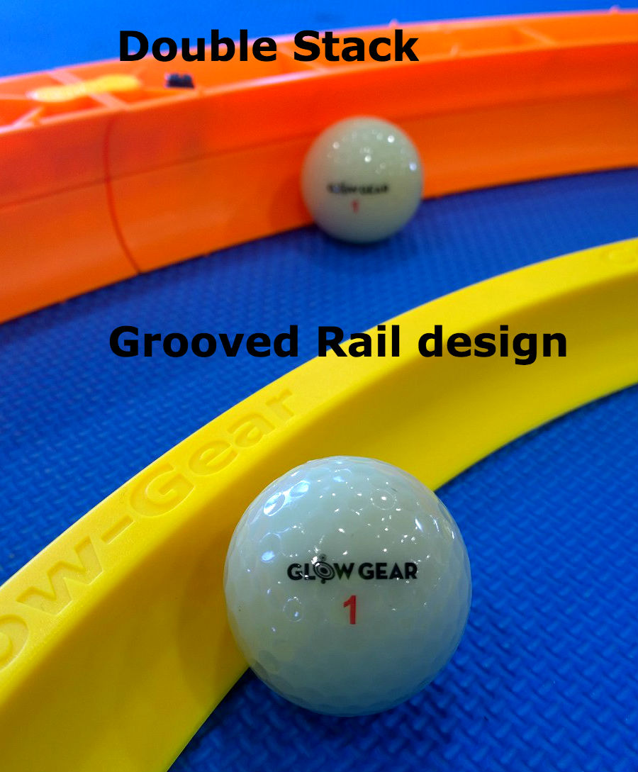 Grooved putting tracks