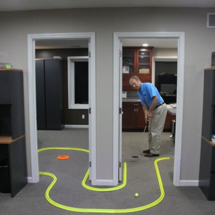 try the award winning office golf game