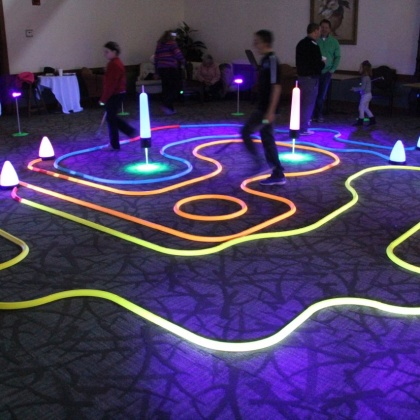 try our neon office golf