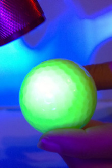 try the best rechargeable night golf ball in golf