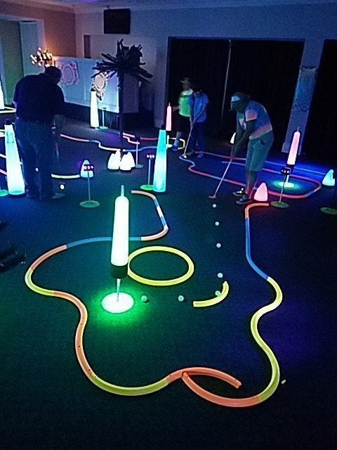 indoor golf events at schools