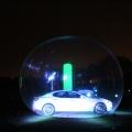 maserati in a car bubble