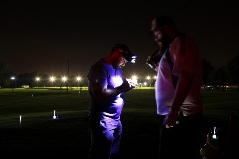 headlamps help when playing night golf