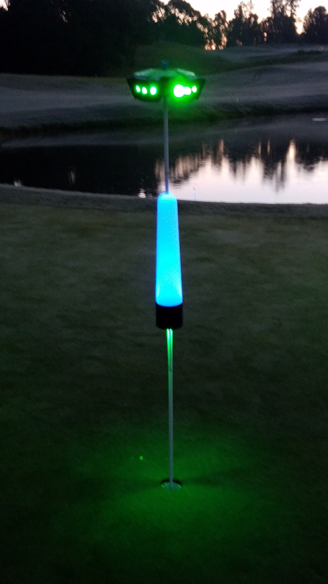 These are putting lights for night golf events and parties