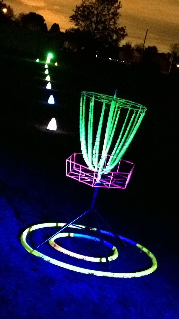 how to create night disc golf