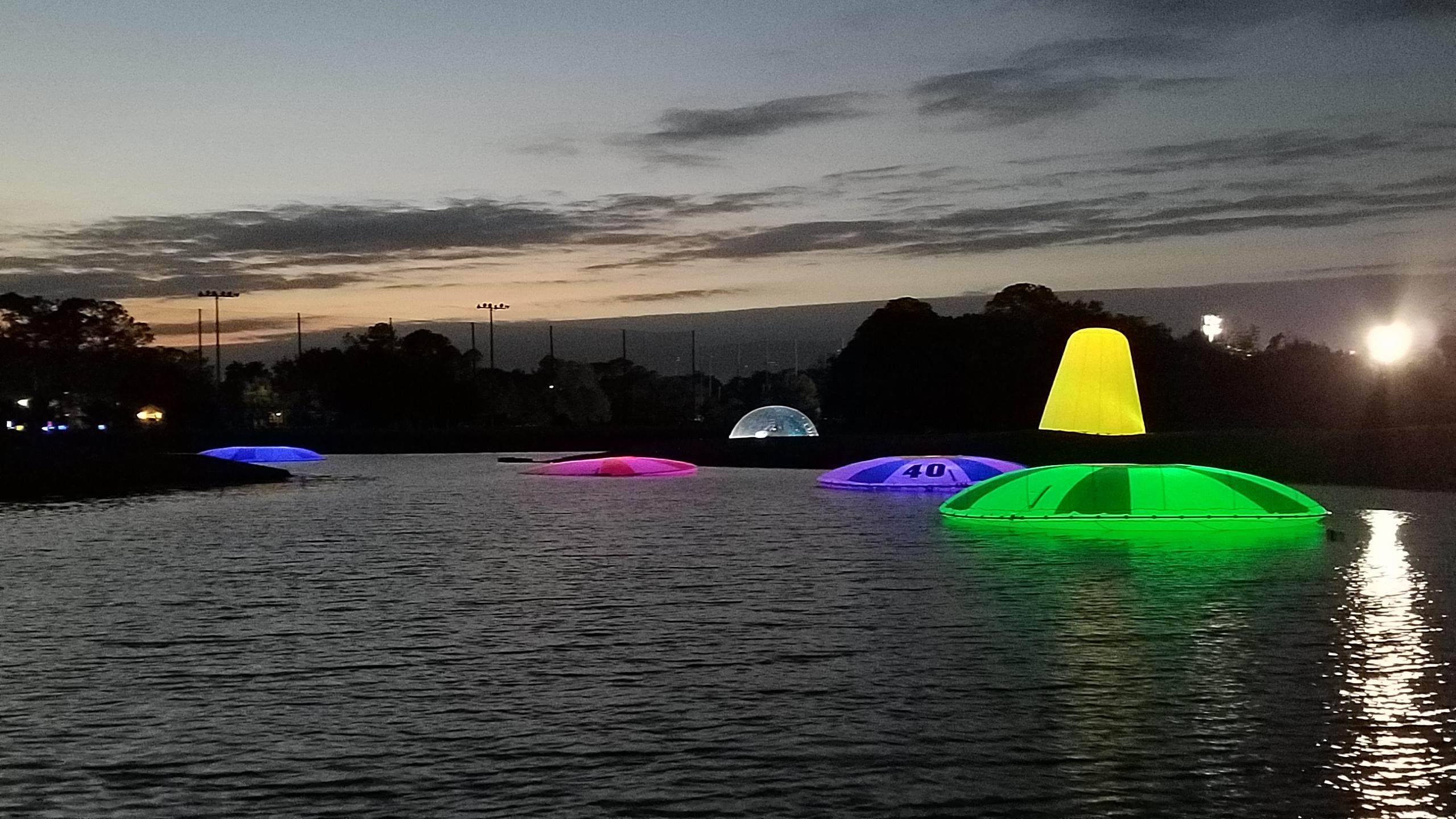 water range targets at night