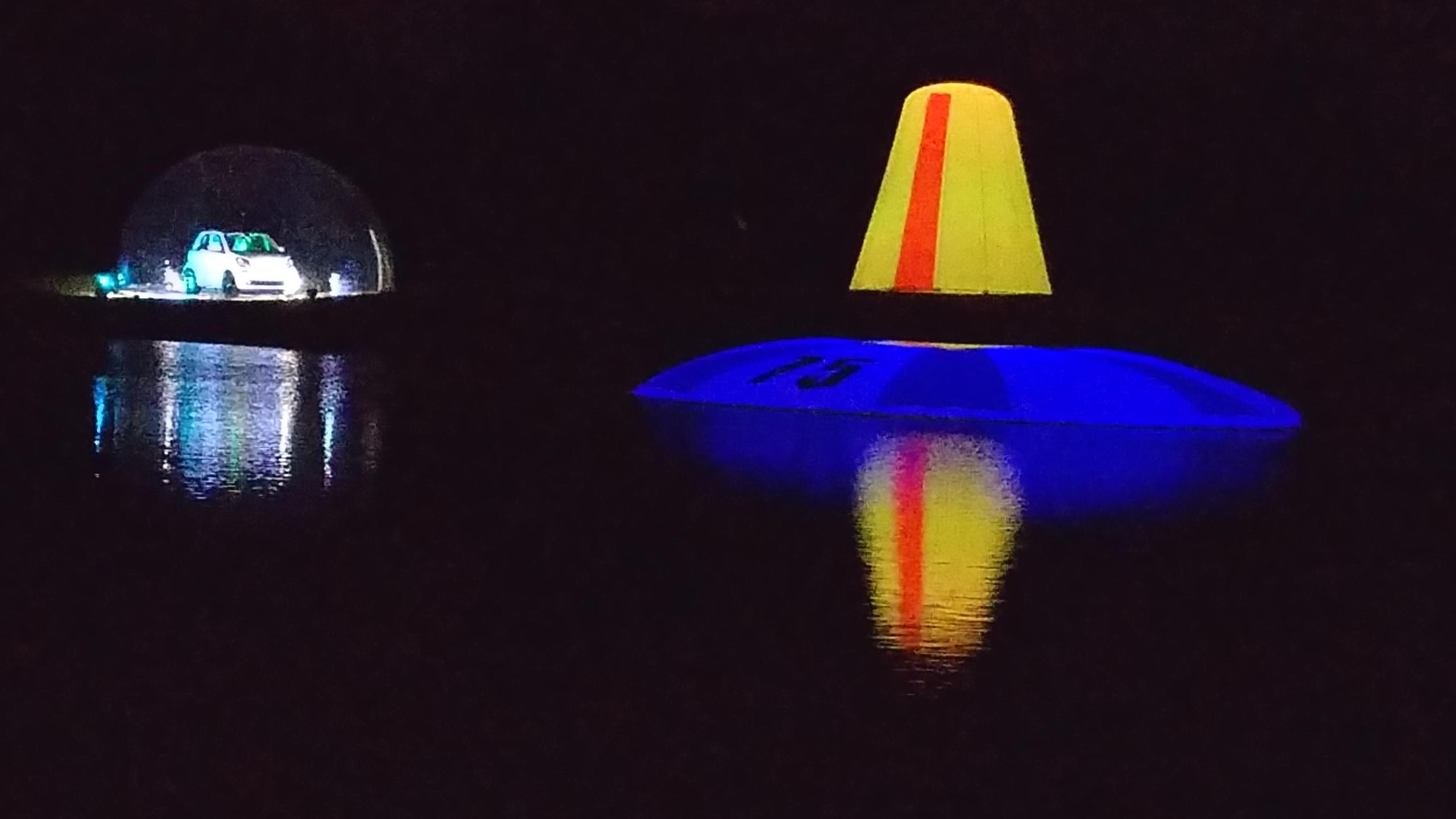 glow driving range targets
