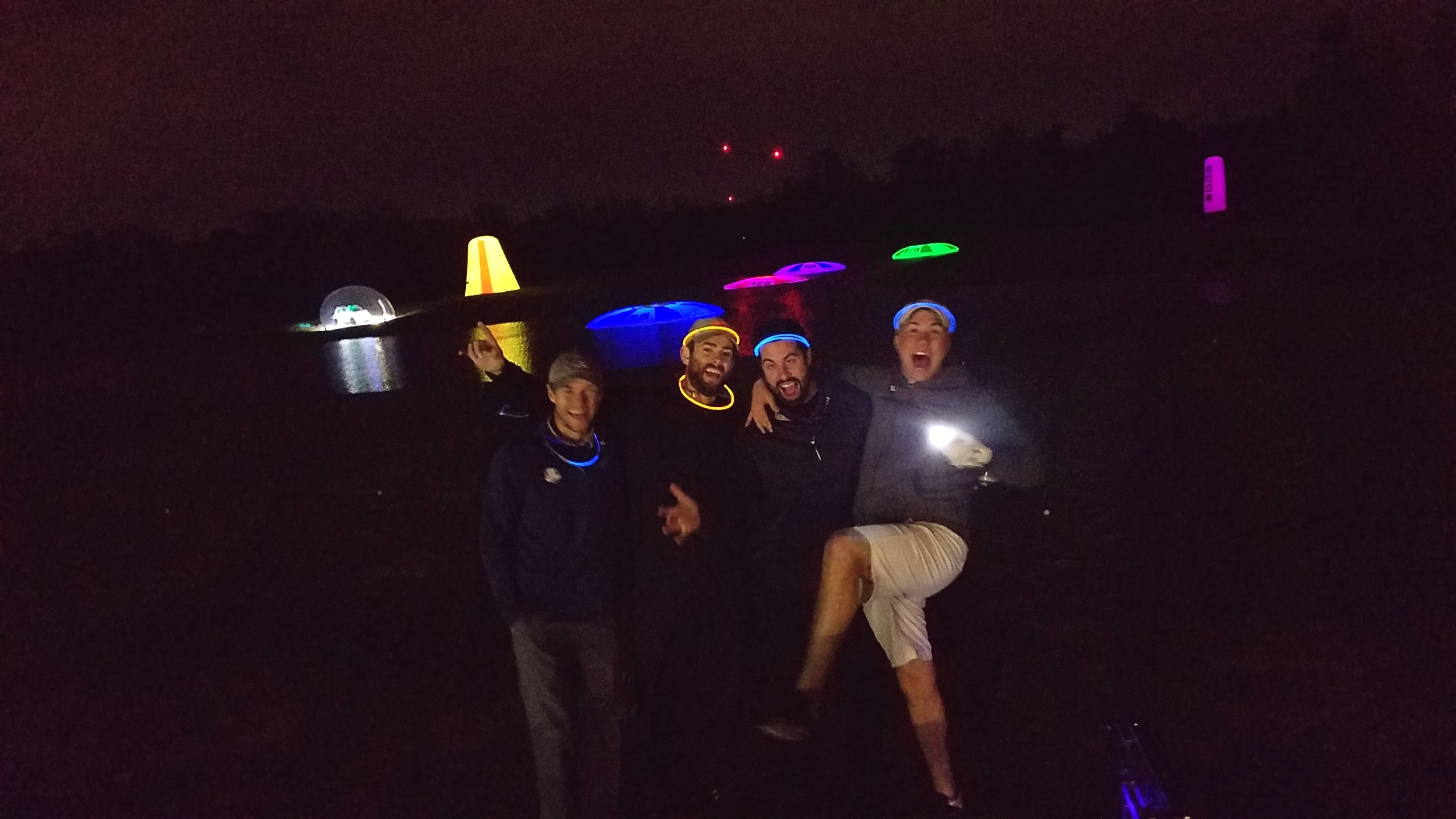 night golf with glowgear