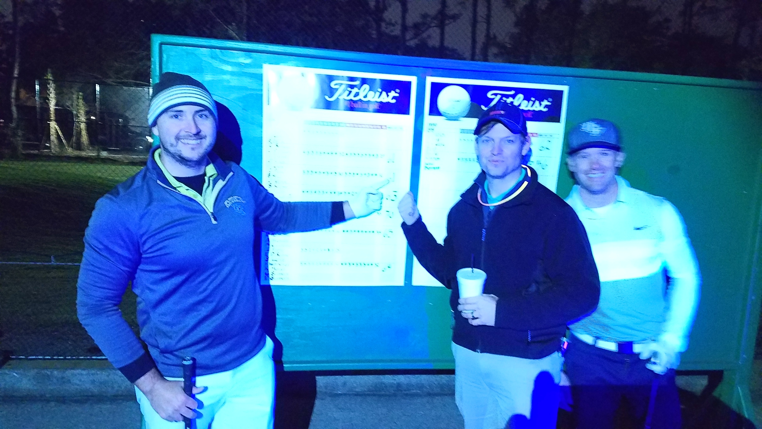Runners up at night golf nationals