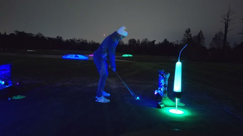 pga tour players at night