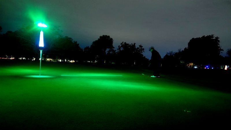 night golf lighting