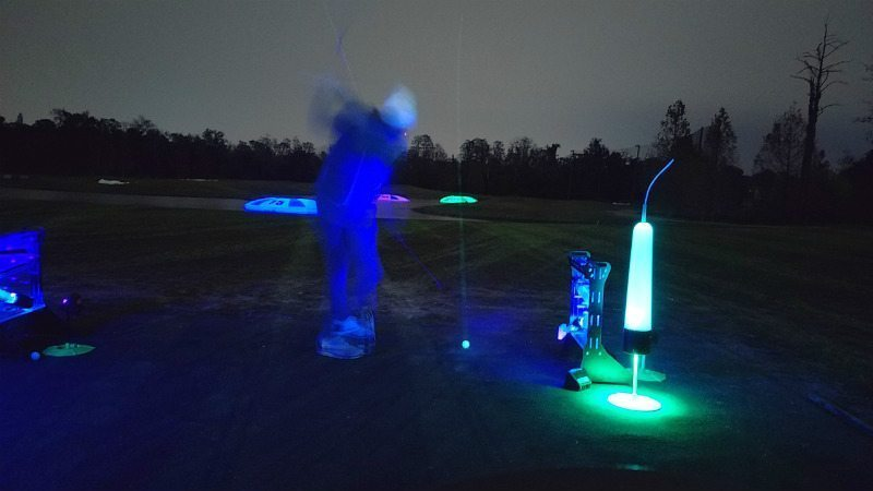 Tee shot from cosmic driving range