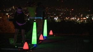 glow in the dark golf tee line