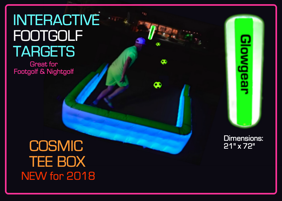 night golf and foot golf targets for playing in the evening
