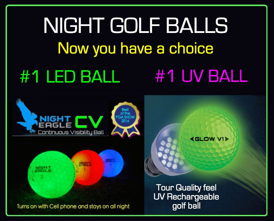 night golf balls and night golf supplies