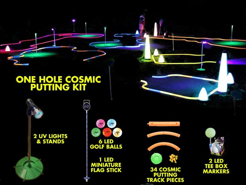 Glowgear Cosmic Mini Golf 1 Hole Event Kit Glowgear