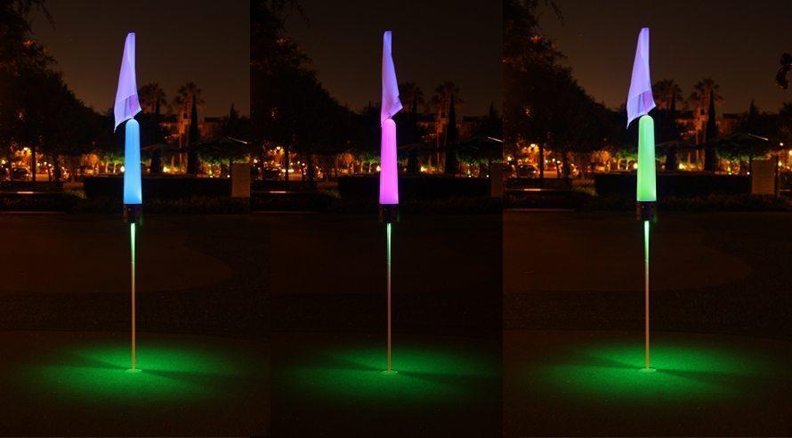 Flag Pin Golf Target Light Rechargeable Glowgear