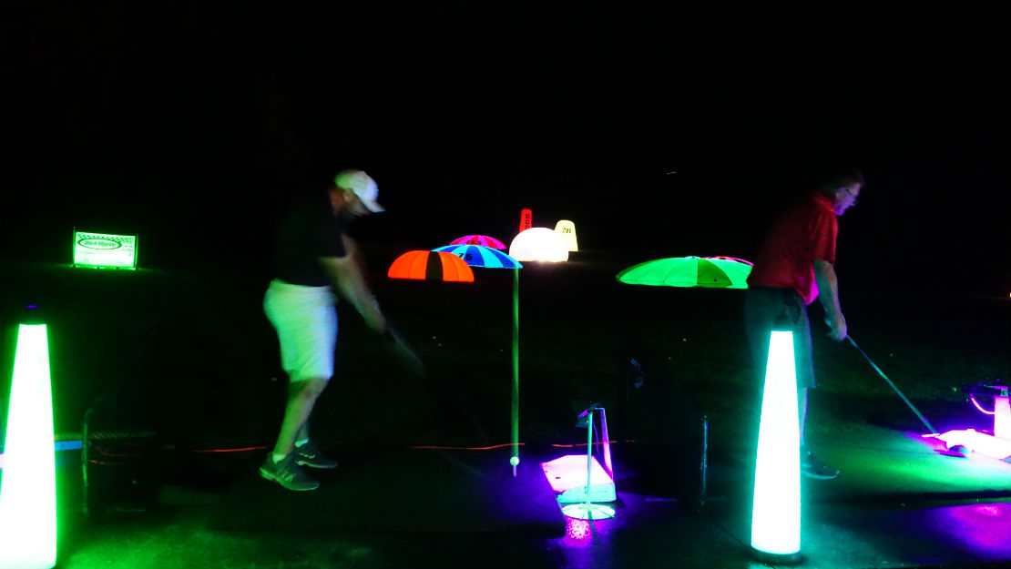 hitting the best glow balls in golf