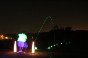 night golf hole