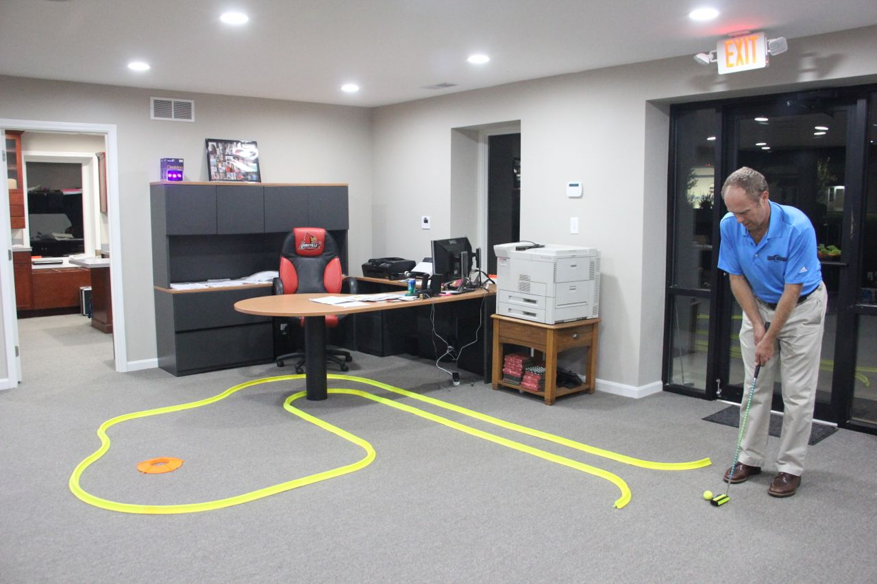 Office Golf Neon Putting Track 1 Hole Kit Glowgear