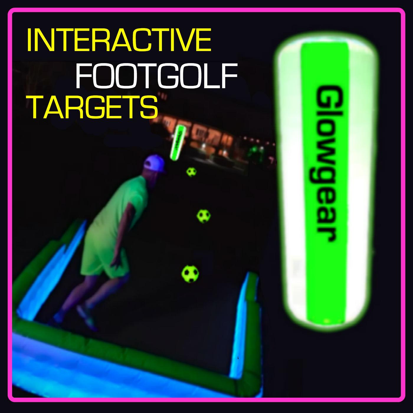 6.5ft Interactive Night & Foot Golf Target Pylon