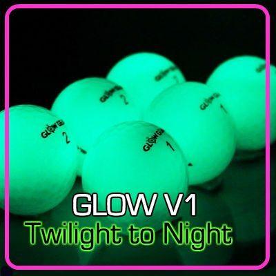 Glow V1 NIGHT GOLF BALL – 6 Ball Pack with UV Flashlight 1