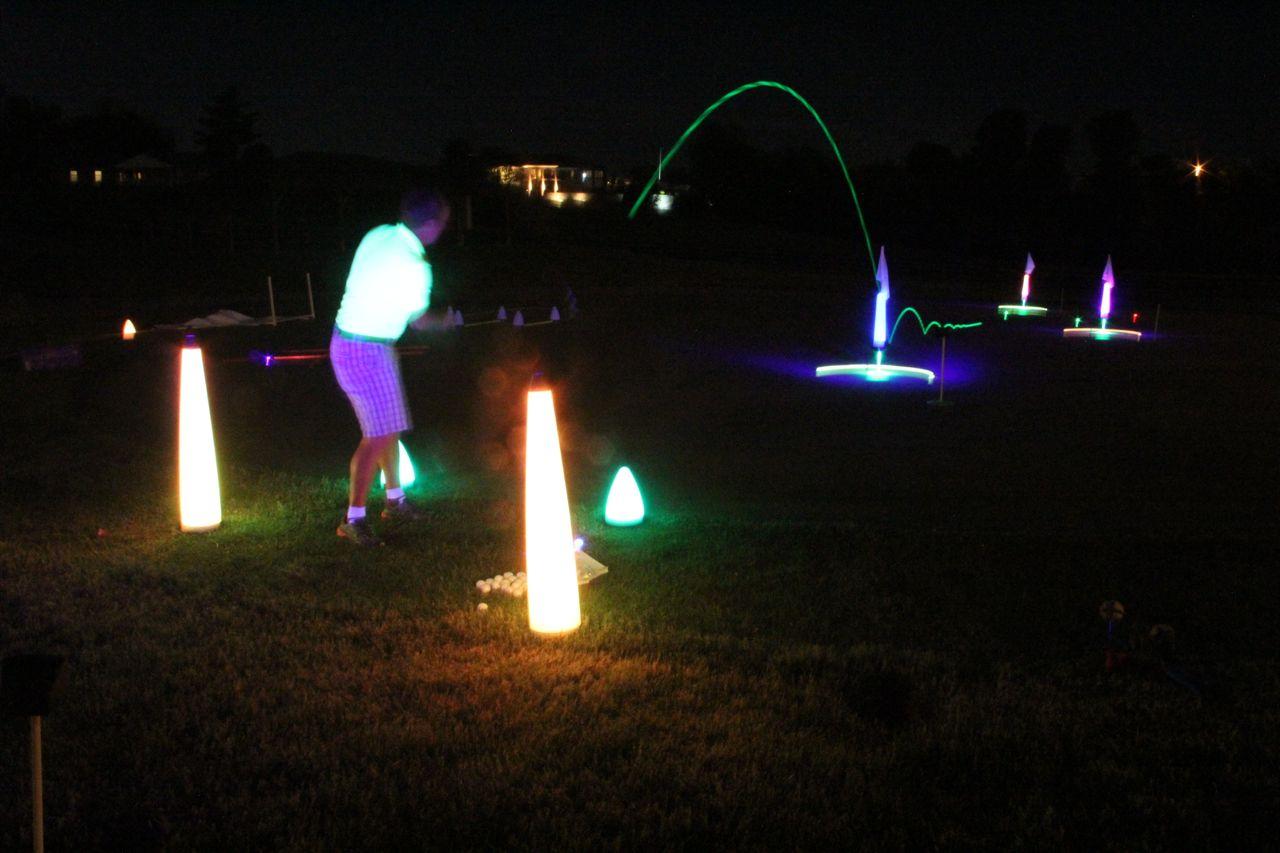 Glow V1 NIGHT GOLF BALL – 6 Ball Pack with UV Flashlight 6