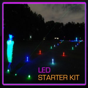 Night Golf 1 Hole Package LED Event Kit