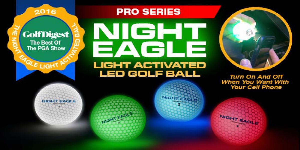 NIght Eagle CV LED Golf Ball – Green – pack of 6 2